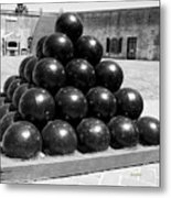 Fort Macon Cannonball Metal Print