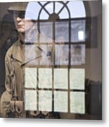 Fort Macon Through Glass Metal Print
