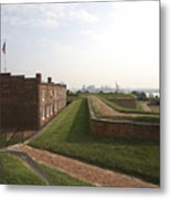 Fort Mchenry Earthworks And Barracks In Baltimore Maryland Metal Print