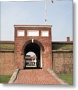 Fort Mchenry Gate In Baltimore Maryland Metal Print