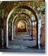 Fort Morgan Arches Metal Print