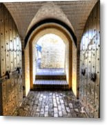 Fort Moultrie Bunker Doors Metal Print