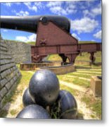 Fort Moultrie Cannon Balls Metal Print