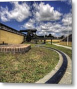 Fort Moultrie Cannon Rails Metal Print