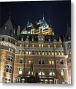 Fort  Of Quebec City At Night Metal Print