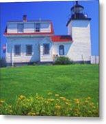 Fort Point Lighthouse Stockton Springs Metal Print