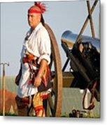 Fort Stanwix Warrior Metal Print