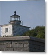 Fort Taber Lighthouse Metal Print