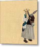 Fort Toulouse Woman In Donkey Costume Metal Print