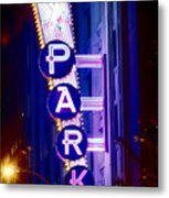 Fort Worth Parking Metal Print
