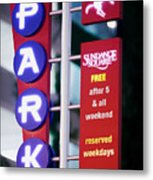 Fort Worth Parking Sign Digital Oil Paint Metal Print