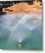 Fort Worth Water Gardens - Aerated Pool Metal Print