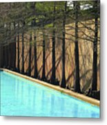 Fort Worth Water Gardens - Quiet Pool Metal Print