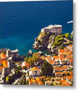 Fortress Of Dubrovnik From Above Metal Print