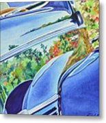 Forty Ford In Fall Metal Print