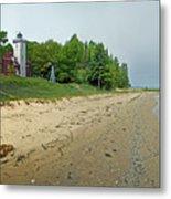 Forty Mile Point Lighthouse Springtime Metal Print