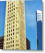 Foshay Tower From The Street Metal Print