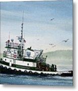 Foss Tugboat Martha Foss Metal Print by James Williamson