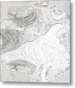 Fossilizing Metal Print