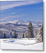 Foster Bridge Winter Panorama Metal Print