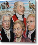 Founding Fathers Jay Madison Paine And Hamilton Metal Print