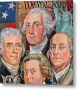 Founding Fathers Of America Metal Print