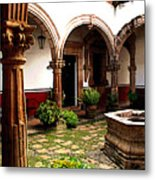 Fountain And Arches Metal Print