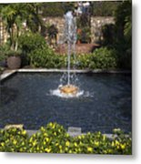 Fountain And Peppers Metal Print