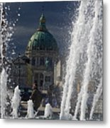 Fountain At Amalie Garden Next Metal Print