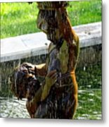 Fountain Cherubs Metal Print