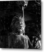 Fountain Child Metal Print