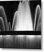 Fountain In Barcelona Metal Print