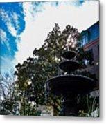 Fountain In Downtown Charleston Metal Print