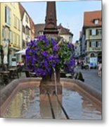 Fountain In Wertheim, Germany Metal Print