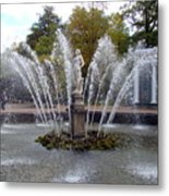 Fountain On The Grounds Of The Peterhof Grand Palace Metal Print