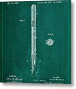 Fountain Pen Patent Drawing 1a Metal Print