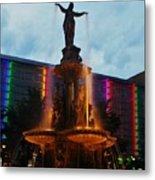 Fountain Square Metal Print