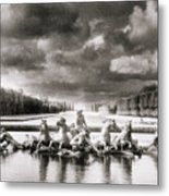 Fountain With Sea Gods At The Palace Of Versailles In Paris Metal Print