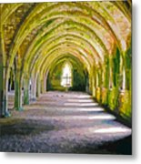 Fountains Abbey, Vaulted Chamber Metal Print