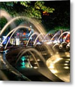 Fountains At Columbus Circle Metal Print