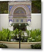 Fountains At The Getty Villa Metal Print