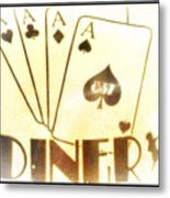 Four Aces Diner Metal Print