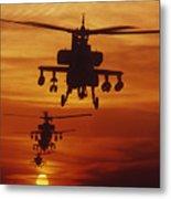 Four Ah-64 Apache Anti-armor Metal Print