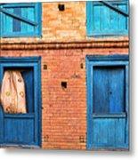 Four Blue Windows Metal Print