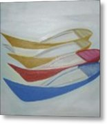 Four Boats And A White One Metal Print