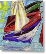 Four Boats Metal Print