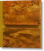 Four Brown Panels Metal Print