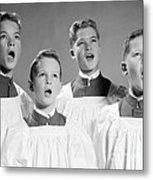 Four Choir Boys Singing, C.1950-60s Metal Print
