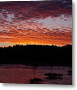Four Elements Sunset Sequence 2 Coconuts Qld Metal Print