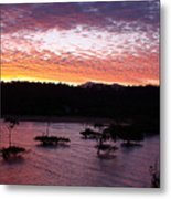 Four Elements Sunset Sequence 3 Coconuts Qld Metal Print